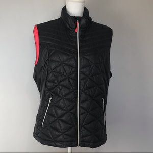 Tek Gear Women's Puff Vest Black Plus Size 2X